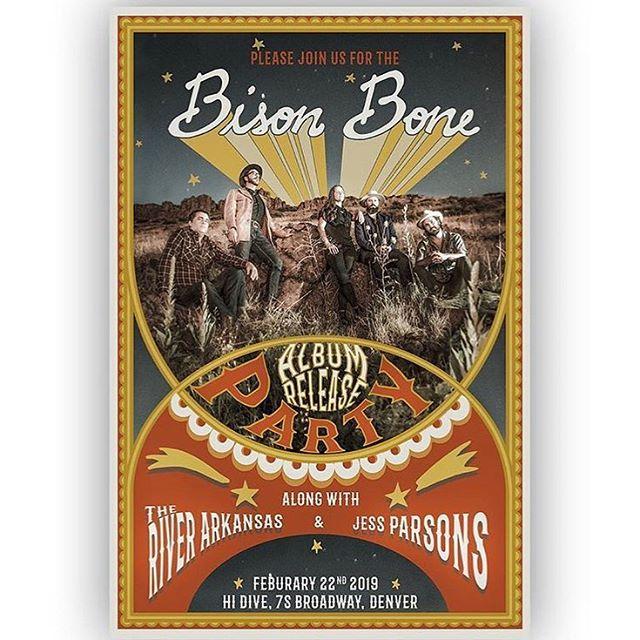Tomorrow night @hidive_denver 💕 @bisonboneband & @theriverarkansas