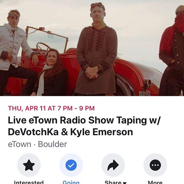 I get to play @etown_radio this Thursday with @kyleemersonmusic! Opening for the ever-amazing @devotchkamusic. Can't wait!