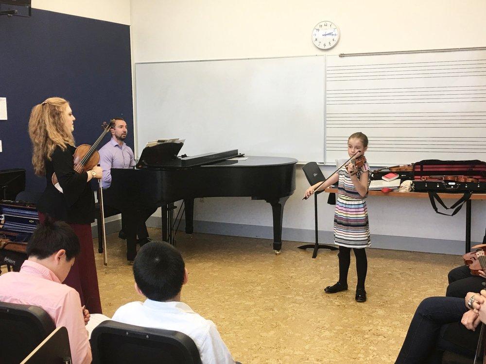 Alice performs the Seitz Violin Concerto in G Major.