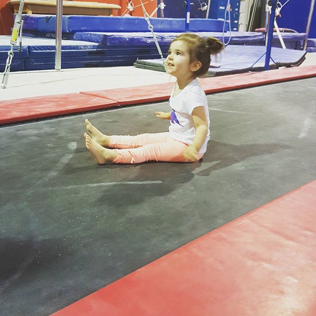 Some action shots from today's #gymnasticsclass Charlie did even better today. I'll be sad when this Groupon runs out. We'll have to find a way to fit it in our budget, she's really enjoying it!