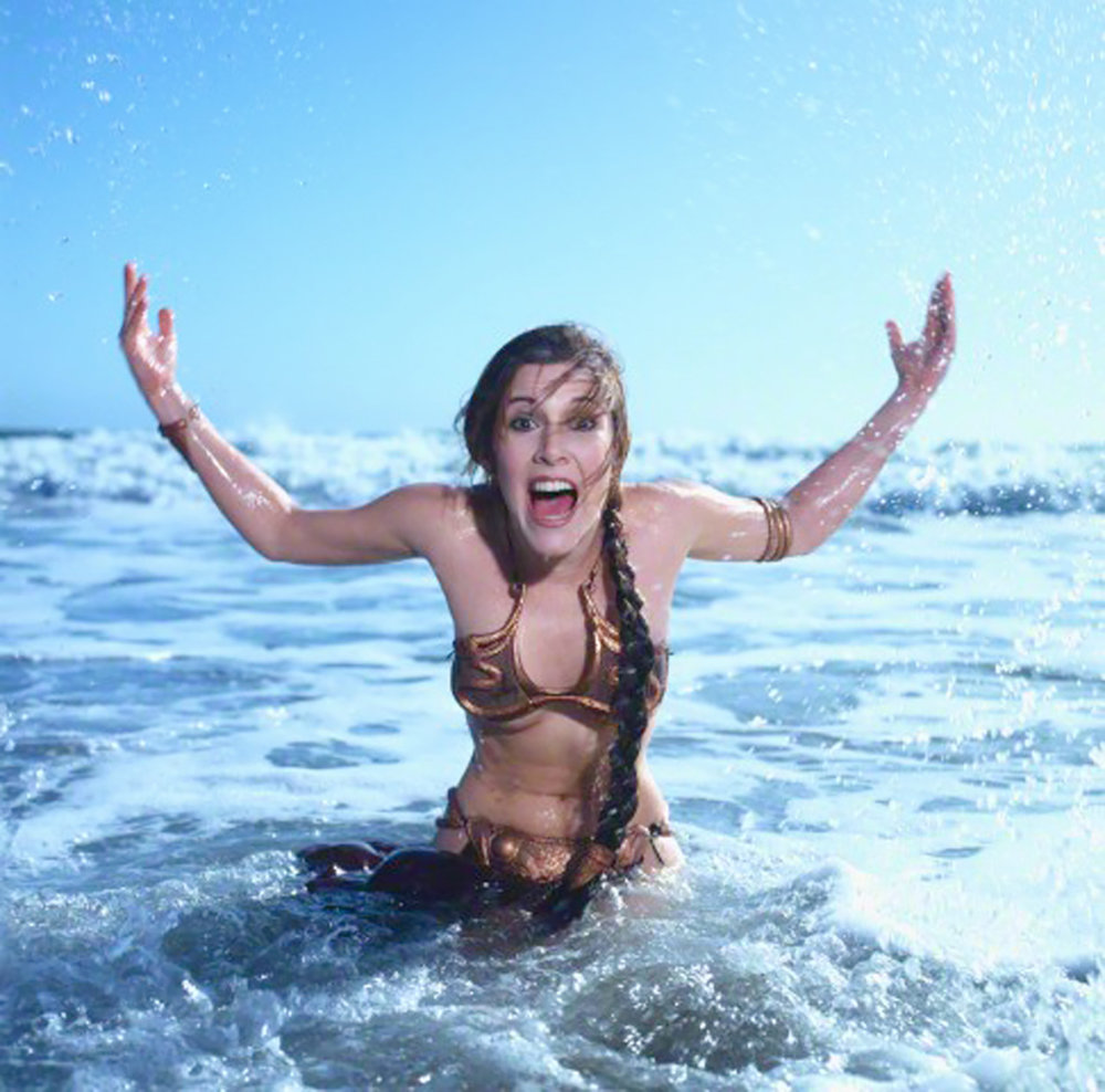 "From Rolling Stones 1983 Return of the Jedi ""Beach Shoot."""