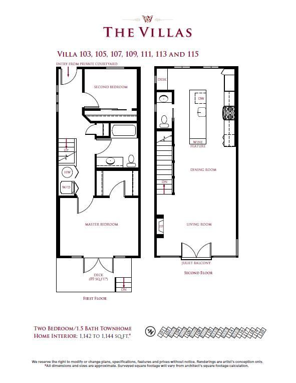 Villa 103, 105, 107, 109, 111, 113, 115