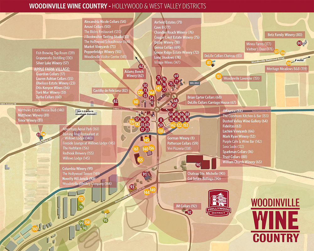 Woodinville Wineries Map Location — The Villas Woodinville Wineries Map