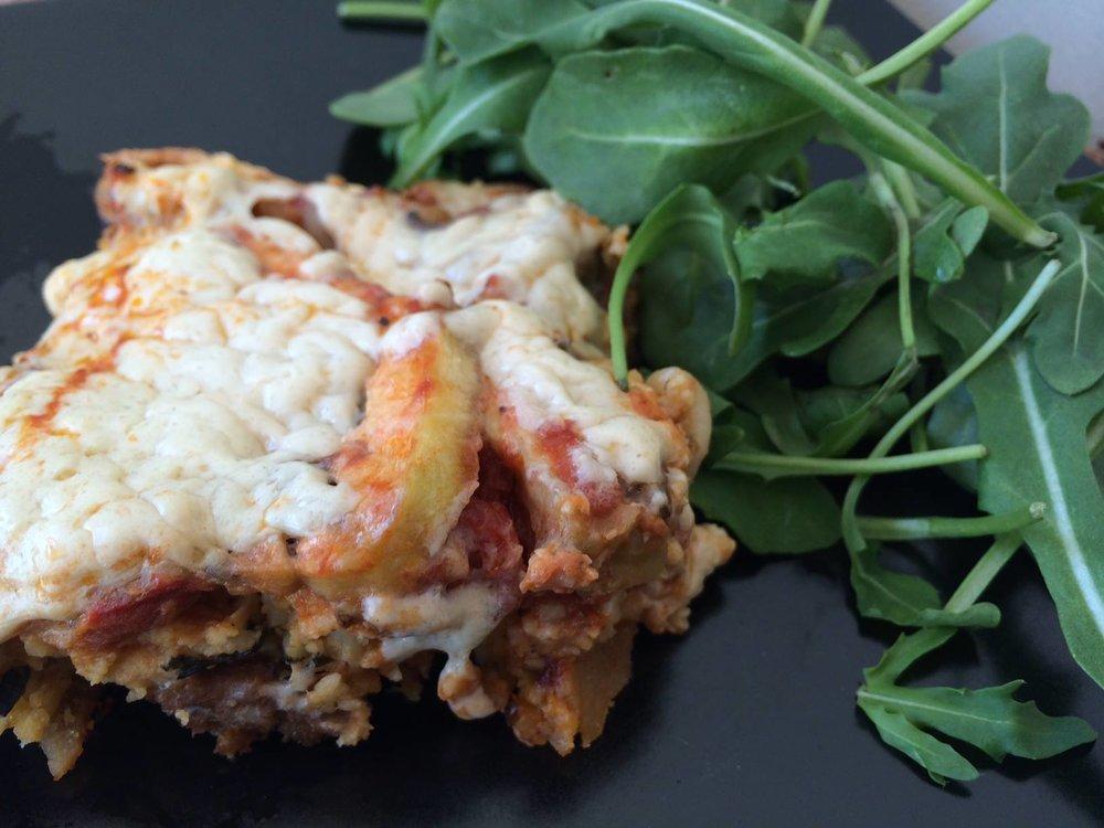 healthy vegan gluten free lasanga