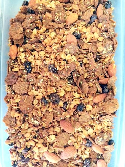 gluten free connamon raisin granola