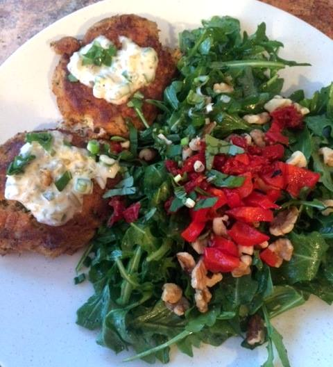 gluten free fluffy crab cakes for Easter brunch