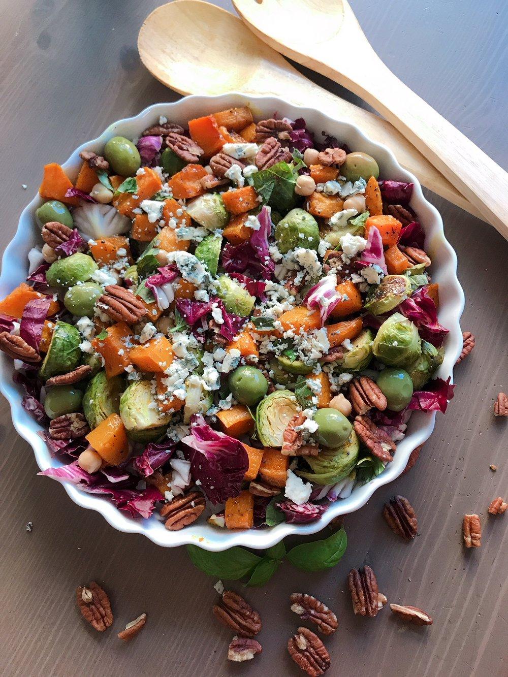 gluten free fall chopped salad