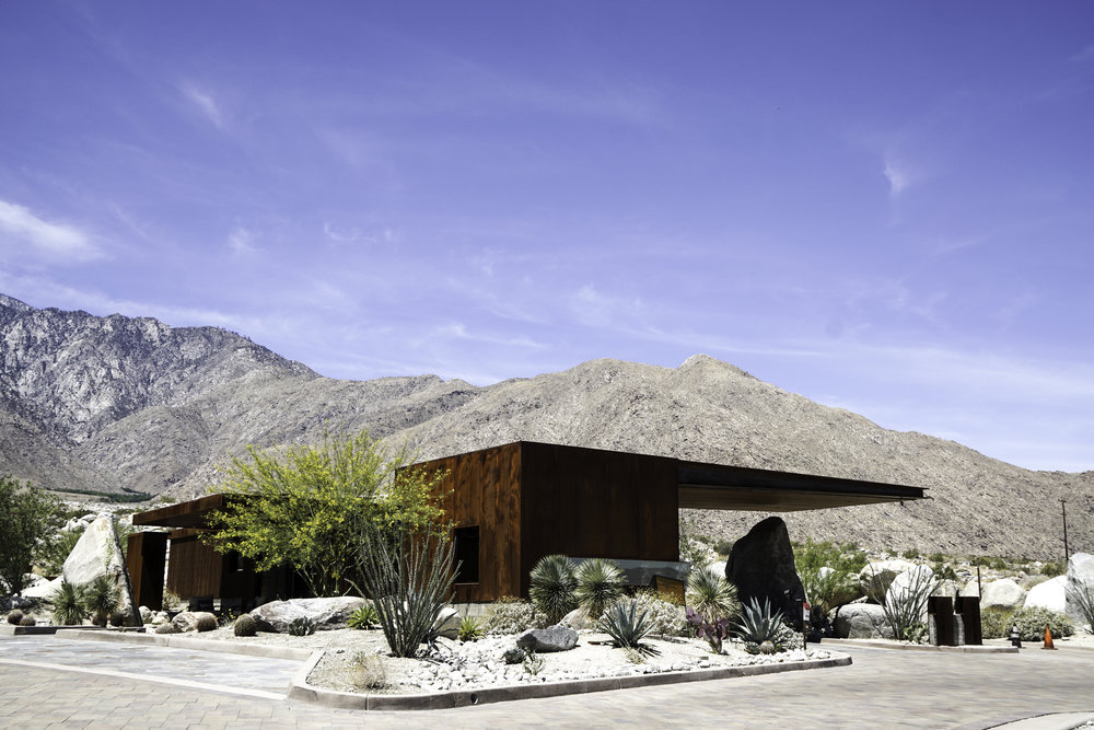 Guard House at Desert Palisades (a planned gated community in Palm Springs).- Designed by architect Sean Lockyer 2016.
