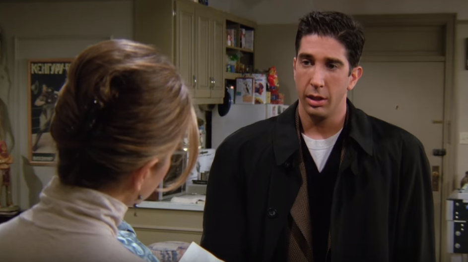 RACHEL:  Kind of ditzy? Too into her looks? Spoiled?...Just a waitress?  ROSS:  No, no, wait! Look at the other side. Look at Julie's column.  RACHEL:  She is not Rachem. What the hell's a Rachem? Is that some stupid paleontology word that I wouldn't know because I'm just a waitress?