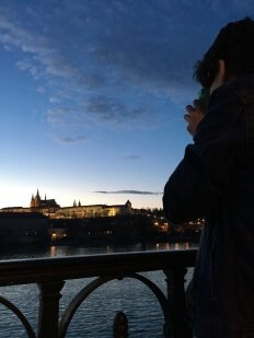Here I am being ultra hipster with my girlfriend's polaroid.  Do yourselves a favor and visit Prague ASAP.