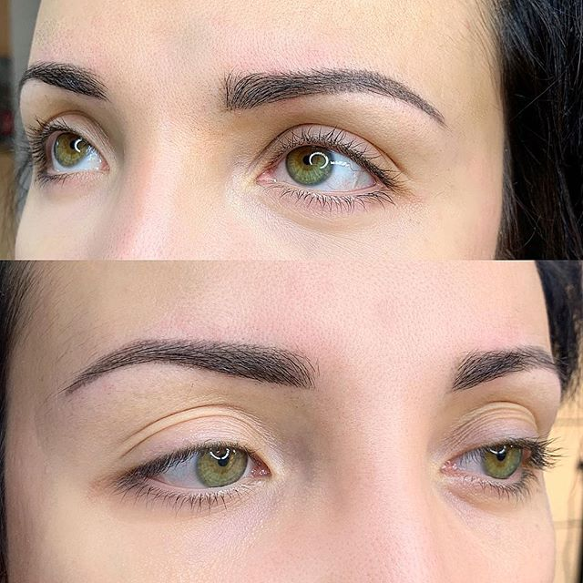 "HEALED Ombré Brows after 1st Session. Wish you guys could see them in real life 😍😍😍 You can see Ombré does not heal harsh or look ""filled in"". It creates a soft pixels ✨ This beauty had sparse brows w gaps & now they blend & flow seamlessly 🥰 #healedwork . . . Device & Needle: #spektraxions #vertix @microbeauofficial ⭐️ Pigment: @permablend_pigments"