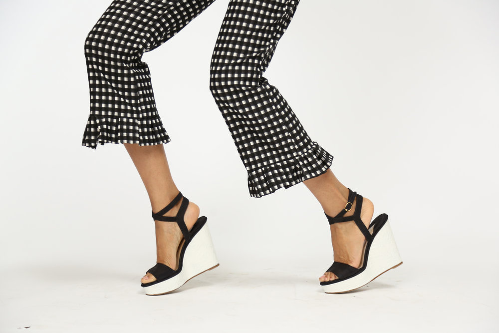 LELA ROSE Gingham Pants