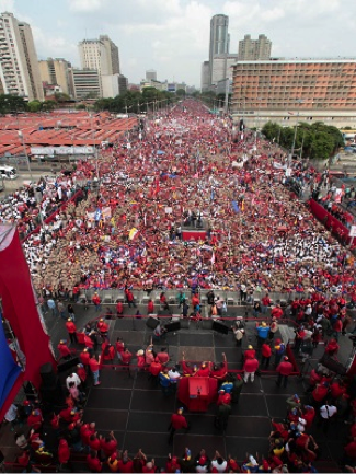 Massive May Day march in Caracas not reported by the media