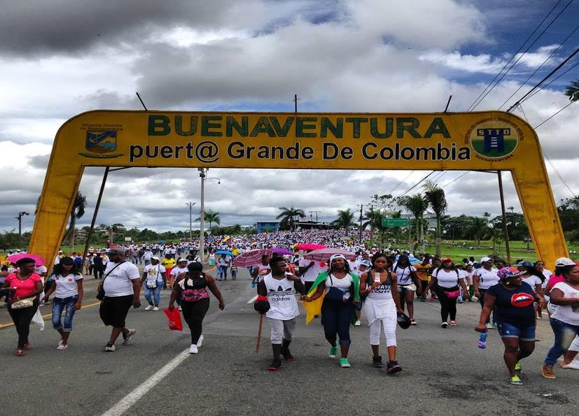 Mass action closing down port in Buenaventura, Colombia May 21