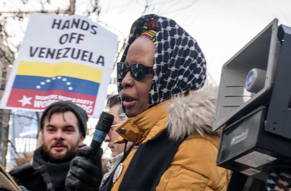 Asantewaa Mawusi Nkrumah-Ture at Venezuela Rally, Philly, 1.26.2019