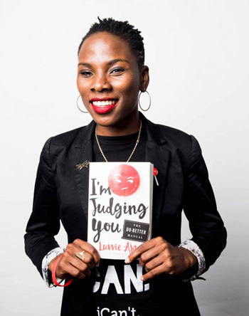 LUVVIE, The Writer  - Luvvie Ajayi is an award-winning writer, pop culture critic, and professional troublemaker who thrives at the intersection of comedy, technology and activism. She is the person who often says what you're thinking but dared not to because you have a filter and a job to protect. Her site