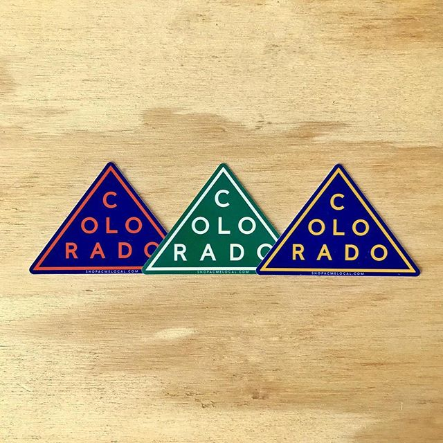 Welcome to Colorful Colorado. Fresh new stickers and tees from the Centennial State now printing. Link in bio. #colorado #colorfulcolorado #mountains #rockymountains #stickers