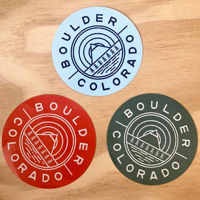Boulder or bust. . Link in bio. . #boulder #bouldercolorado #colorado #coloradolife #colorfulcolorado #hiking #mountains #rockymountains #stickers #sticker #shoplocal