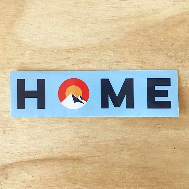 Home sweet mountains. . Link in bio. . #sticker #stickers #bumpersticker #home #colorado #coloradorockies #mountains #rockymountains #hike #west