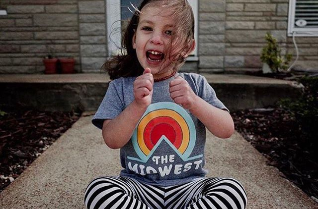 Just the sweetest lil' gal sporting one of our sunset tees. Check out our full collection of youth tees online (link in bio) to gear up the littlest Midwesterners in your life. . 📷: @imdustindavis . #midwest #midwestern #midwestnative #kansas #missouri #nebraska #minnesota #illinois #indiana #iowa #michigan #northdakota #southdakota #ohio #wisconsin #sunset #shoplocal