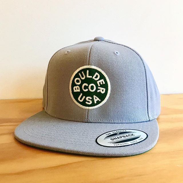 Fresh caps shipping out to Boulder! Stitched up by @shopsupercub . . #custom #boulder #bouldercolorado #snapback #cap #hat #printshop #local #shoplocal #acmelocal #design #graphicdesign #branding
