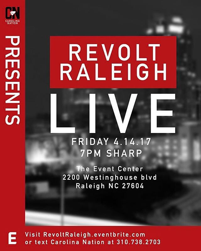 #Repost @tonyray919 ・・・ Live this Friday at The Event Center #RevoltRaleigh featuring @dababy @fattsosa & many more surprises ! Support the culture 🔥🔥🔥🔥
