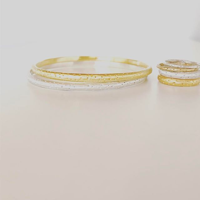 Saturday must haves . . . . . . . #silver #gold #bangles #rings