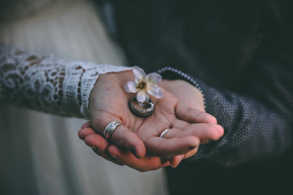 Bride, Groom and Wedding Rings