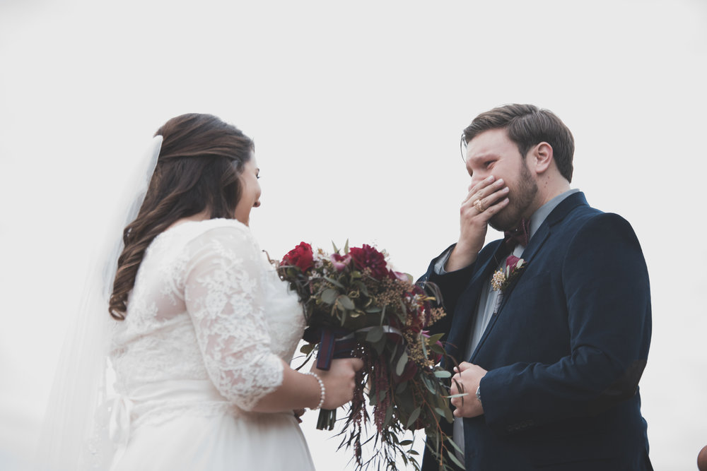 Bride and Groom's first look was so touching