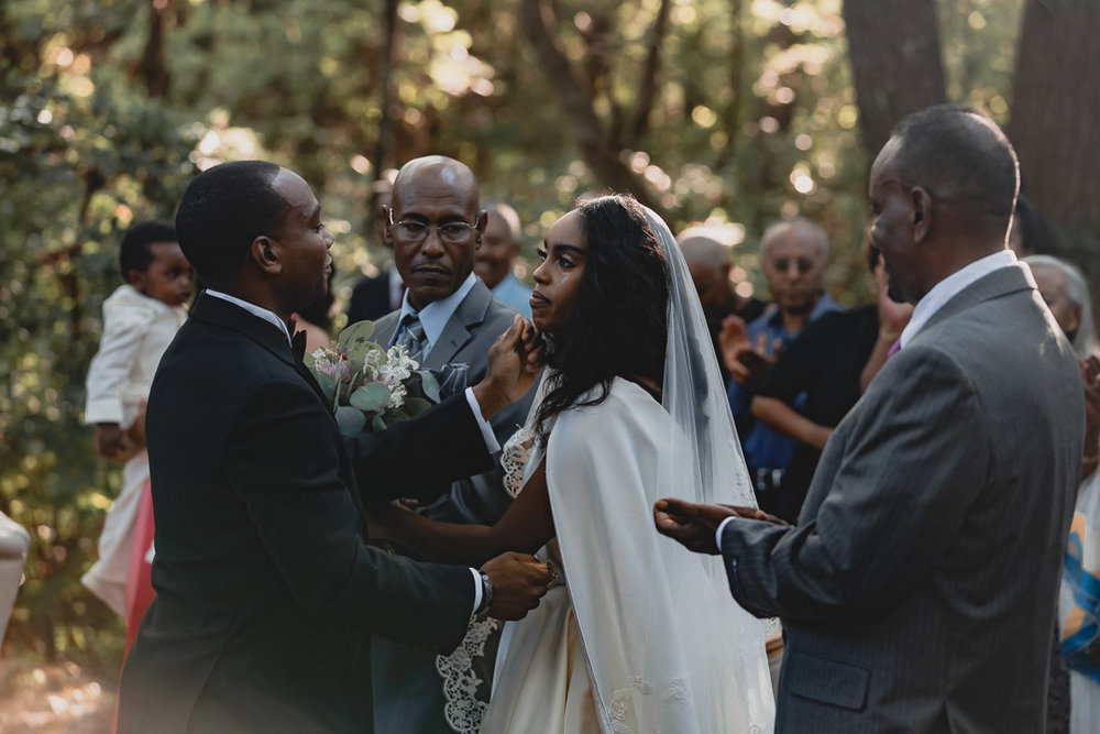 Father giving Bride to Groom