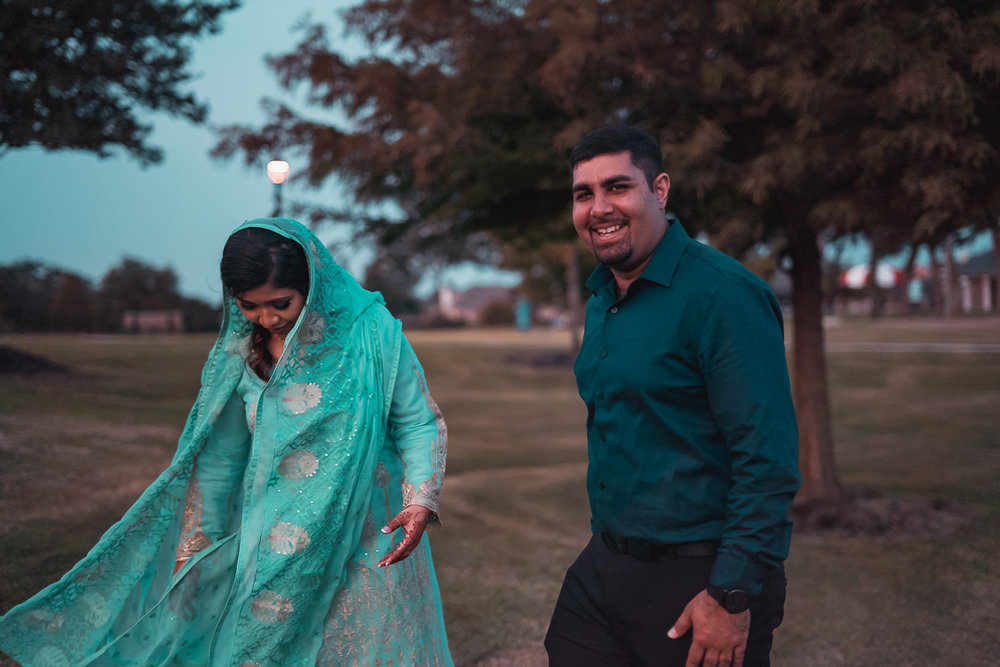 Bride and groom after Nikah