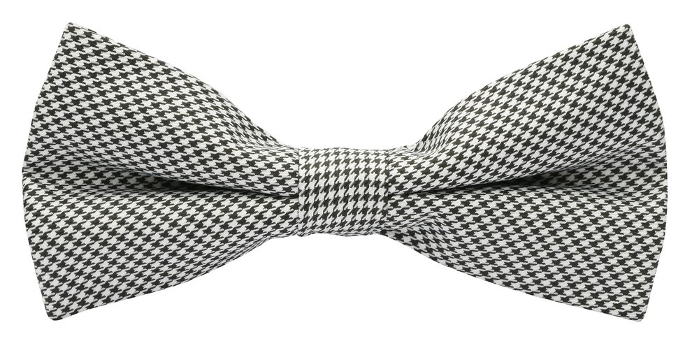 Featured bow tie: 'Vintage' Dogtooth Bow Tie with Matching Pocket Square from $39