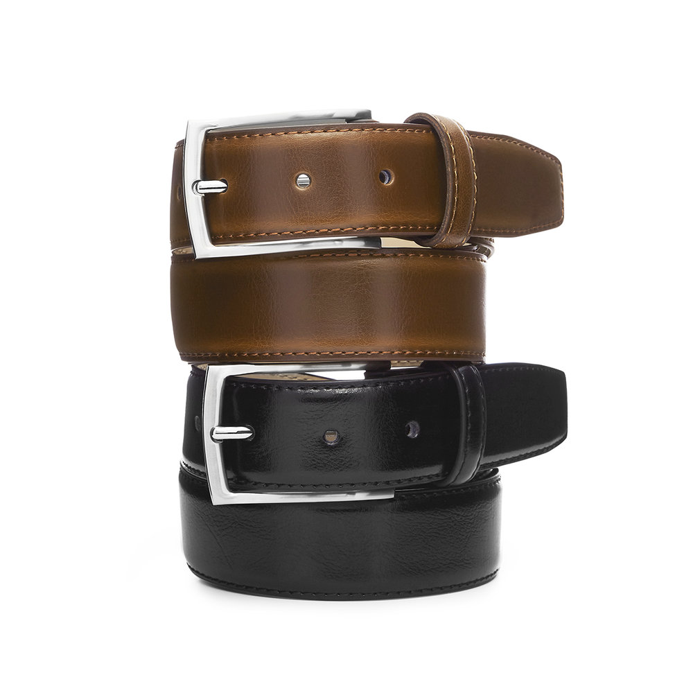 Featured belt: 'Casablanca' Black and Tan, Australian Made Leather Belt, $59