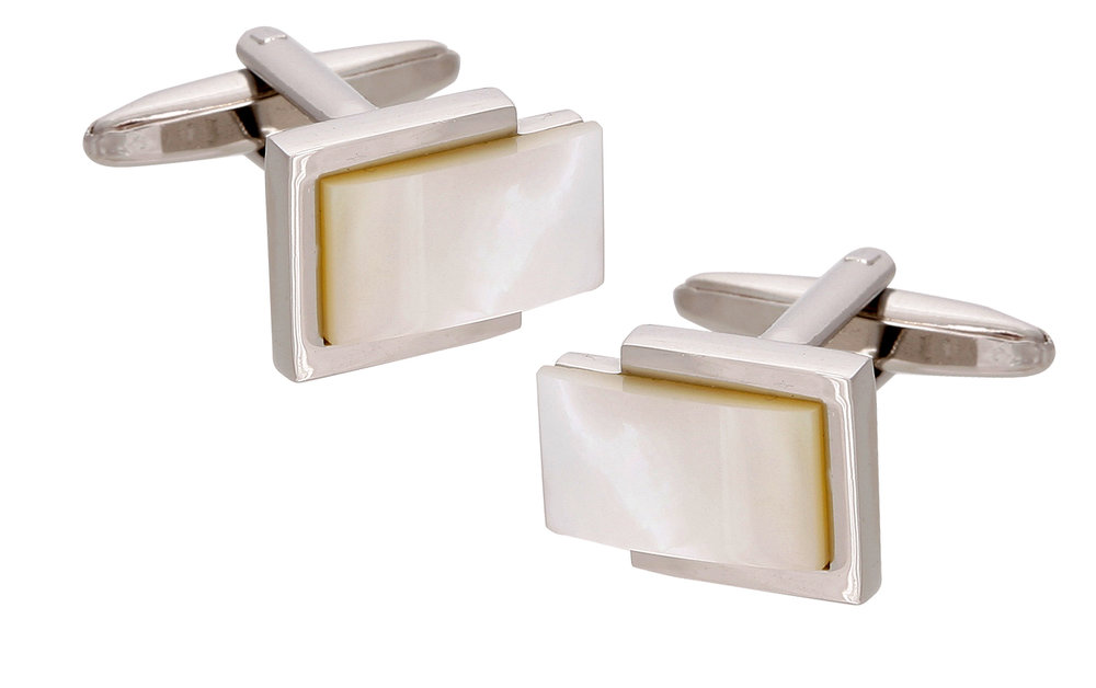 Featured cufflinks: '001' Mother of Pearl from $59
