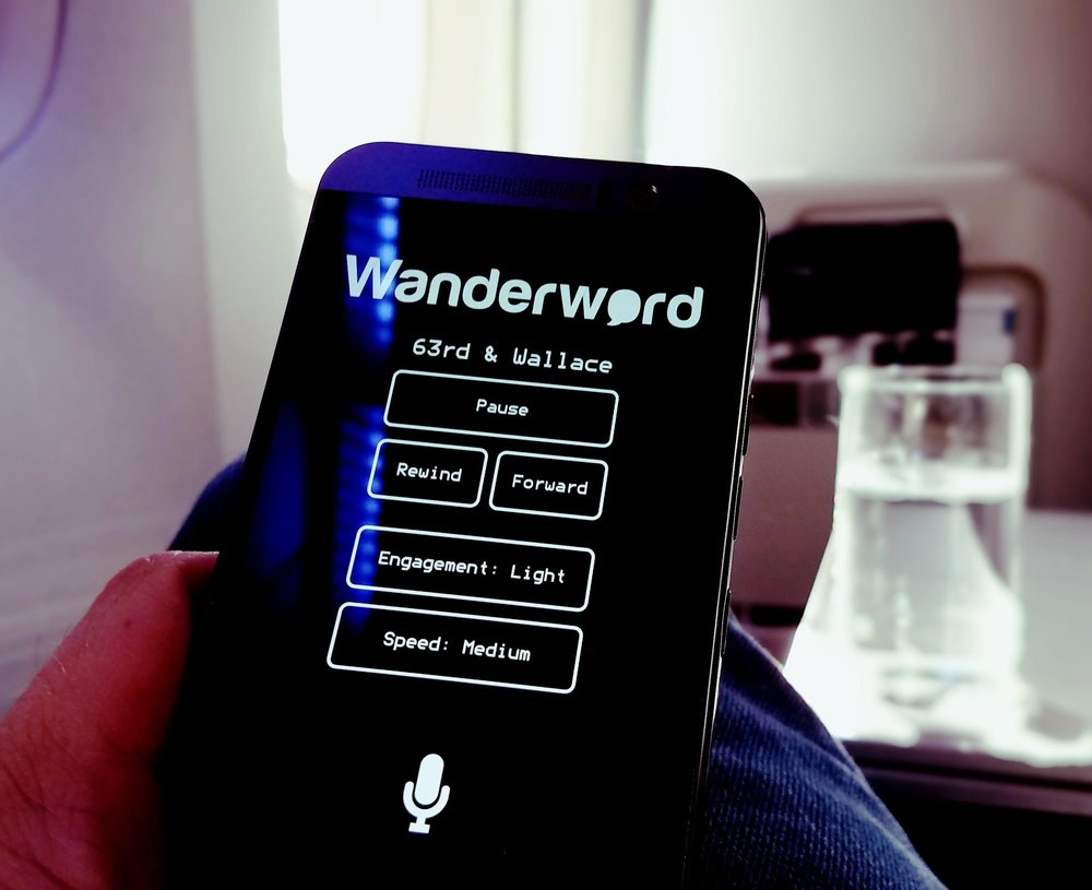 Flight entertainment - July 11th 2017For the first time since 2013 I decided to play Wanderword during a flight. It was very encouraging to find out that speech recognition worked well in a airplane cabin environment. I completed chapters one and two of Wanderword's interactive audio-book
