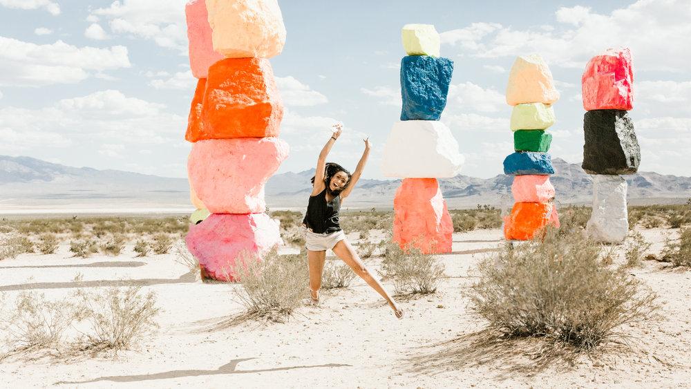 Ugo Rondinone's Seven Magic Mountains - Las Vegas, Nevada