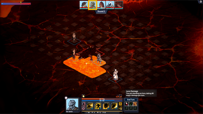 Don't stand in the fire! Some enemies have the ability to lay down hazardous AOE that stick on the board, limiting movement options or outright denying areas of the map.