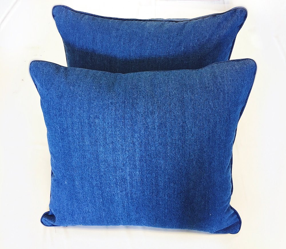 custom pillows with jean fabric