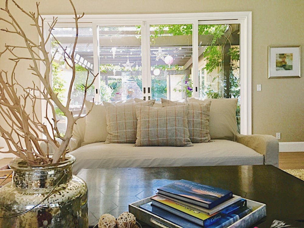 slipcover with pillows