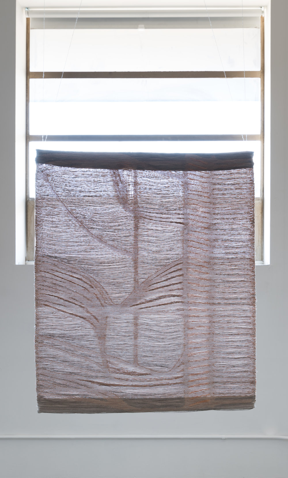 2017  [FRONT view] digital jacquard weaving, linen weft: nervous system