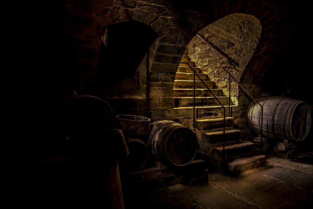 Goldpassage - Die Hauptachse im Erdgeschoß bildet der Gewölberundgang im Inneren des Hauses und dient als kleine Passage. Öffentlich zugänglich verbindet die Goldpassage alle Geschäftseinheiten mit dem Cafe inkl. Gastgarten wie auch den Appartements und dem Veranstaltungsraum. Der hauseigene Weinkeller ist ebenfalls hierüber zu erreichen.