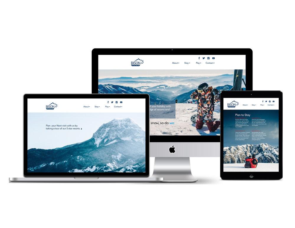 Website design for a mountain resort.
