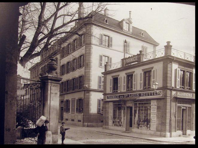 Rue de l'Orangerie au début du siècle dernier -