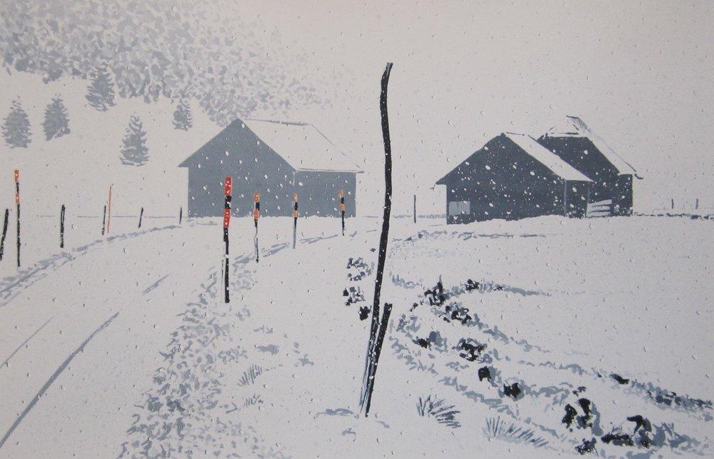 Trio sous la neige