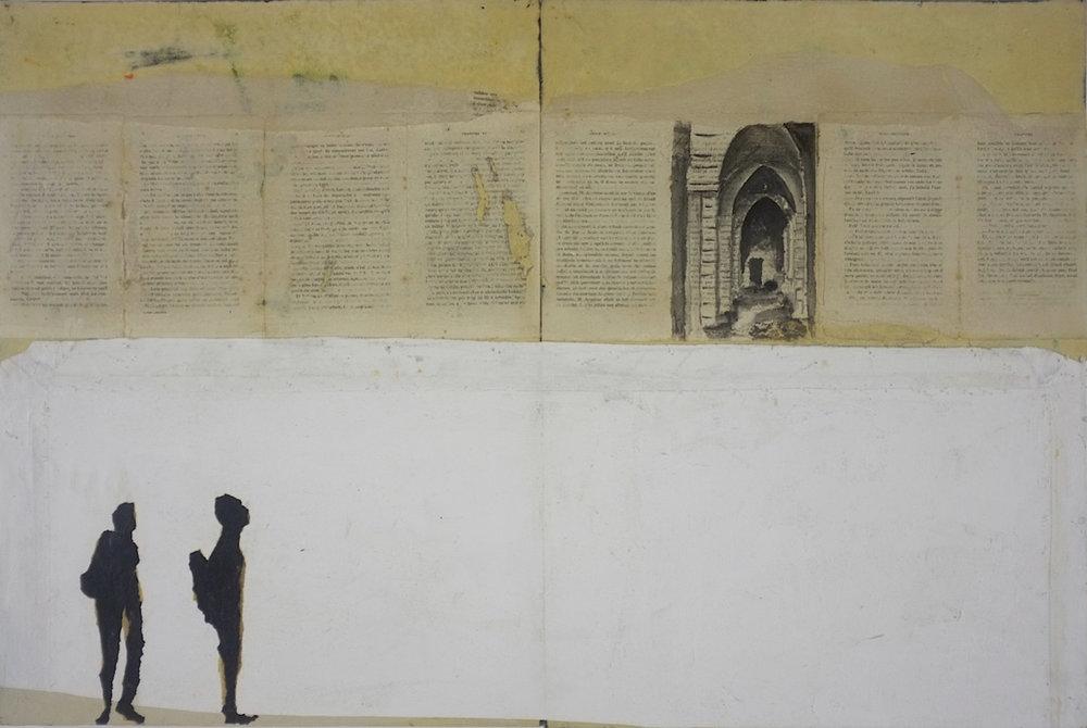 DEVOST-Murs et ecritures-2017. Technique mixte sur papier, maroufle sur panneaux de bois, 60 x 90 cm..jpg