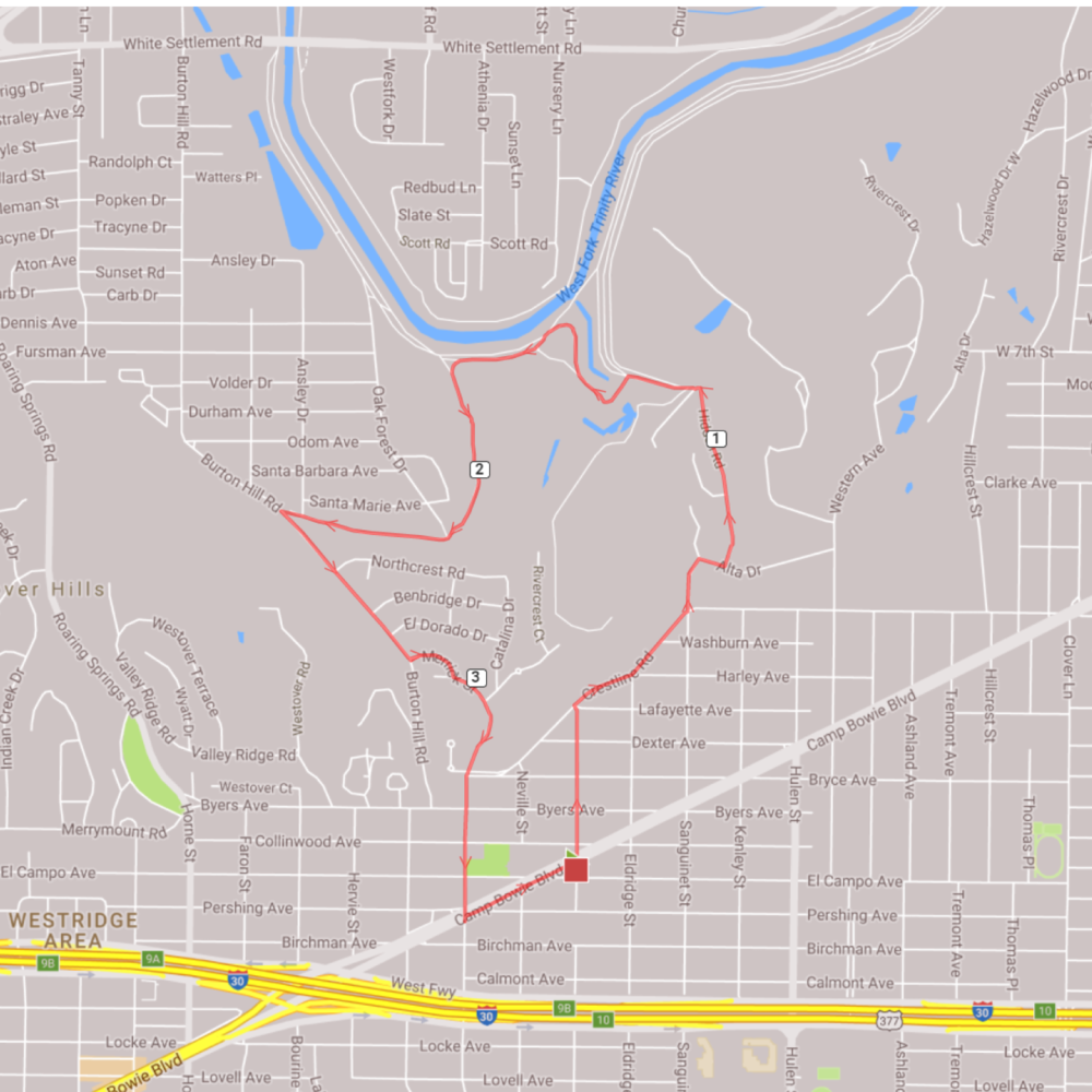 3.74 MILE COURSE FOR TONIGHT'S RUN/WALK!
