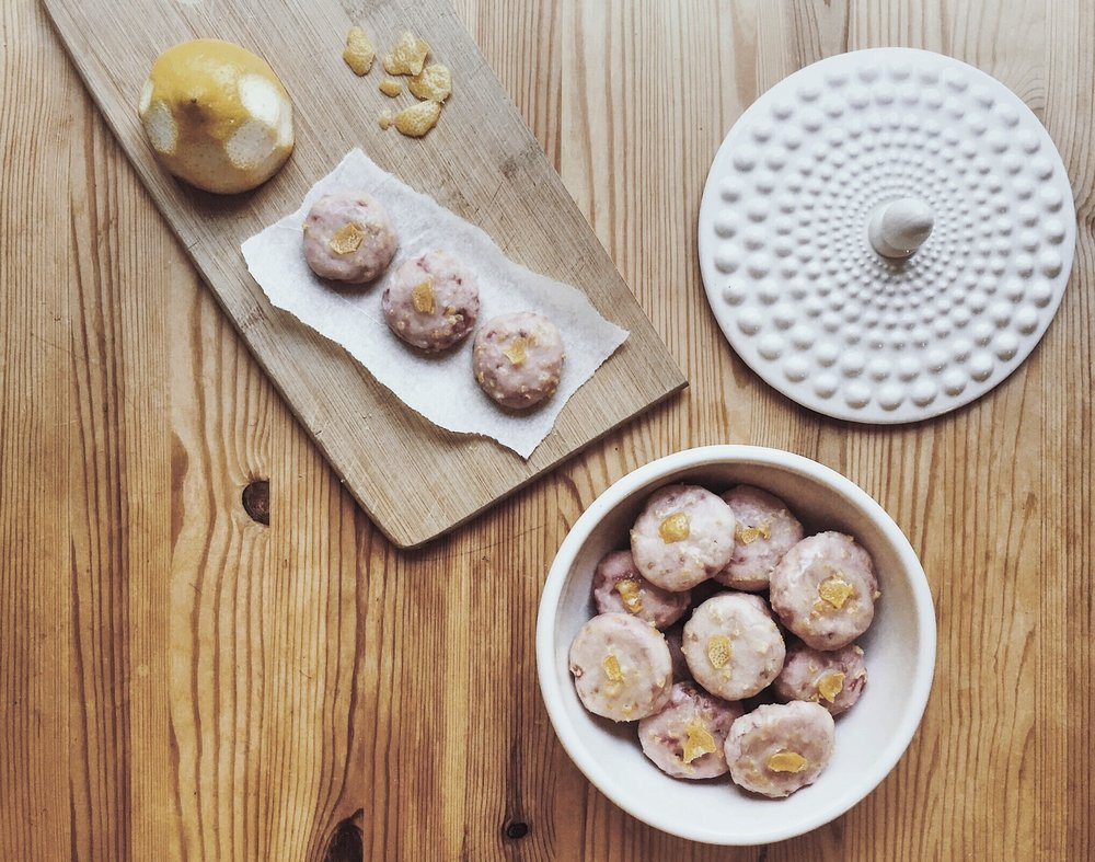 SHARE || approximately 22-26 small tea cookies.