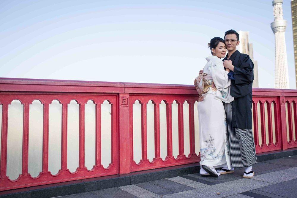 Tokyo location shoots: Asakusa (pre-wedding, engagement)