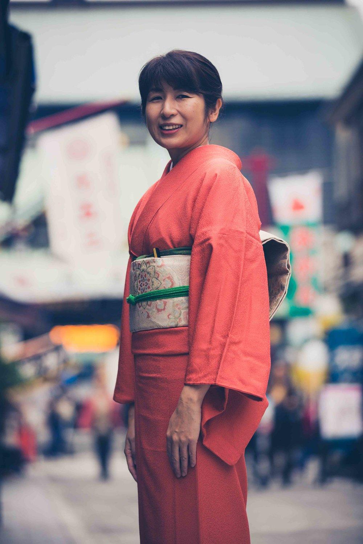Kimono photography in Tokyo