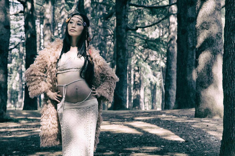 Nature maternity photo shoot (Yoyogi Park, Tokyo)